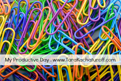 colorful paperclips background